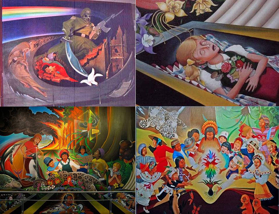 Dia murals for Denver international airport mural